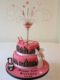 pink black shoe cocktail satc birthday cake pink and black theme