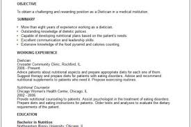 Doctor Resume Examples by Dietitian Resume Sample Reentrycorps