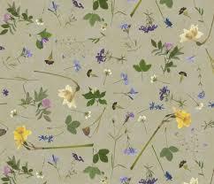 pressed flowers pressed flowers fabric weavingmajor spoonflower