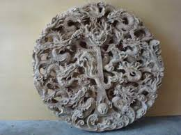 wood carving wall for sale sculpture the plaque traditional circular wood