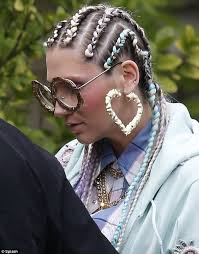 cornrows hair added jamis braid designz and dreads pinterest ke ha puts a wacky twist on geek chic as she sports gold spectacles