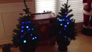 the incredible holiday lightshow 4 u0027 trees by gemmy youtube