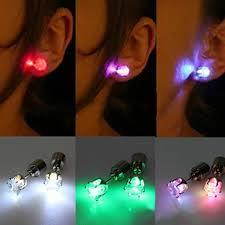 light up christmas earrings christmas gift led stud flash earrings hairpins strobe led earring
