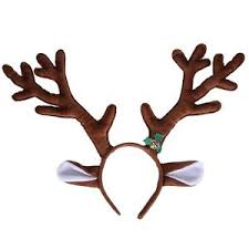 reindeer antlers headband reindeer antlers headband with ears and bell christmas themed