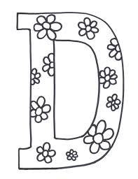 d is for doughnuts preschool coloring sheet i love these letter