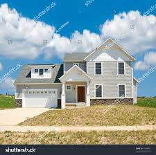 suburban home beautiful vinyl siding home stock photo 11788891