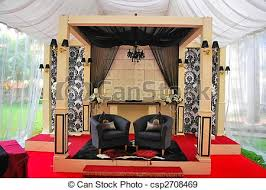 Traditional Marriage Decorations Stock Photo Of Traditional Wedding Stage Malay Traditional