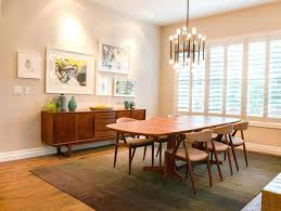 Round Rug Dining Room by Mid Century Round Dining Table U2013 Rhawker Design