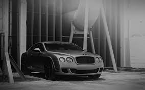 bentley sports car white aj64 bentley motors bw dark car park art city