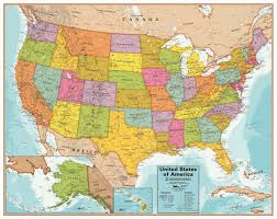 Interactive United States Map by United States Interactive Wall Chart Round World Products