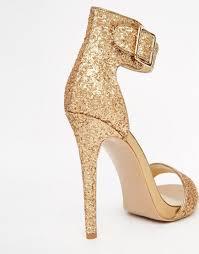 gold ankle strap heels is heel