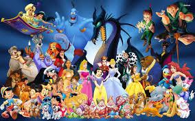 disney cartoon characters wallpaper