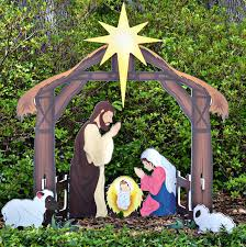 Lighted Outdoor Christmas Nativity Scene by Christmas Lights Lighted Outdoor Nativity Scene Plastic