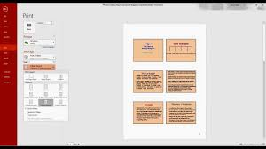 how to print multiple powerpoint slides in one page youtube