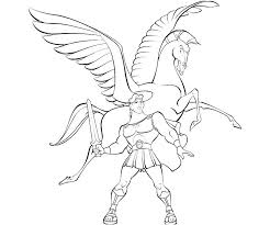hercules coloring page pegasus coloring pages getcoloringpages com