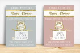 owl baby shower invitation invitation templates creative market