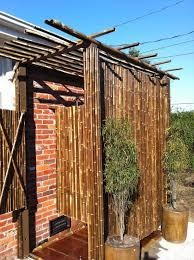 bamboo outdoor shower joslingroup design construction custom