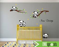 panda sticker chambre sticker panda mignon couchage panda