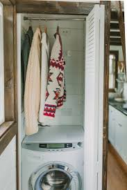 on the road for 75k a tiny luxe house on wheels gardenista tiny house on wheels laundry gardenista