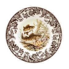 dining spode woodland 20cm plate with turkey dinnerware and