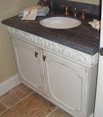 Distressed Bathroom Vanity by Custom Handcrafted Bathroom Cabinets And Furniture