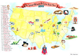 Us Route 20 Map by The Ultimate Pop Culture Road Trip Map By Chris Tupa