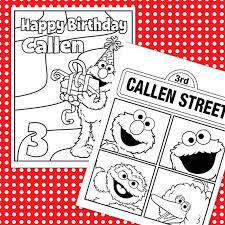 custom printable sesame street birthday coloring sheets 4