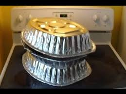 Stovetop Pizza Oven Diy Stove Top Oven Disposable Aluminum Pans Tutorial Youtube