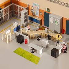 mobiliers de bureau mobiliers de bureau ho faller 180454 modélisme ferroviaire diorama