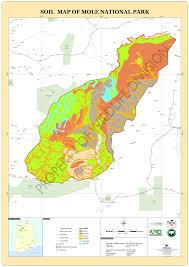 Map Of Ghana Mole National Park Northern Region Of Ghana West Africa