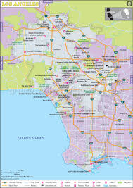 East Coast Time Zone Map by Los Angeles Map Map Of Los Angeles City Of California La Map