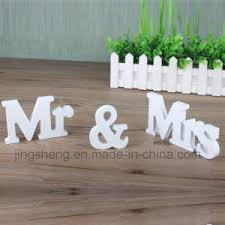 china mr mrs signs letters wedding supplies wooden alphabet