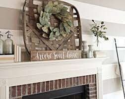 decor for fireplace fireplace decor etsy