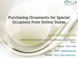 purchasing ornaments for special occasions from stores