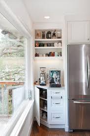 kitchen coffee bar ideas coffee corner ideas kitchen transitional with window wall white