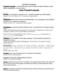 printable figurative language worksheets free worksheets library