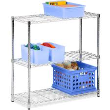 3 Shelf Wire Rack Honey Can Do 3 Tier Storage Rack Wire Shelving Unit Chrome