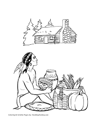 thanksgiving coloring page thanksgiving day feast coloring page