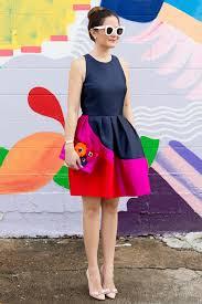 designs color block dress