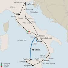 Map Of Naples Italy by Itinerary The Best Of Italy U0026 Sicily 2017