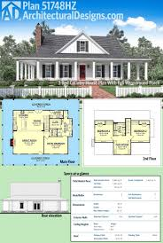 wrap around porch plans plan 51748hz 3 bed country house with wraparound porch two
