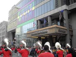 thanksgiving day parade in front of sheraton picture of sheraton