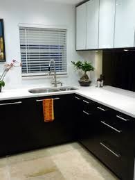 Modern Dark Kitchen Cabinets Kitchen Wood Flooring With Dark Kitchen Cabinets Black Kitchen