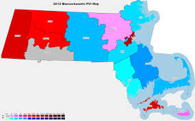 Massachusetts State Map by 2012 National And State Pvi Bellwether Counties For All 50 States