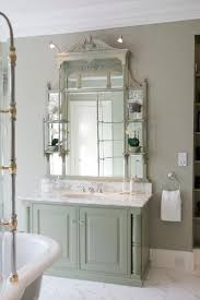 french grey mirrored wall cabinet distressed bathroom shabby chic