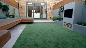 delightful and amazing small garden designs with rectangular lawn