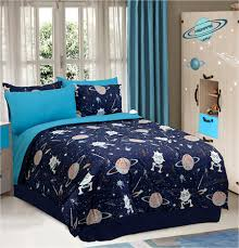 Blue Full Comforter Set Aliens Galaxy Space Bedding Twin Full Comforter Set Or Bed In A
