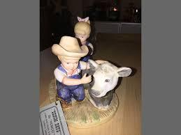 home interior denim days boy sheep figurine no beastiality involved u2026i think all