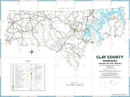 Map Of Kentucky And Tennessee by Clay County Tn Map Resources