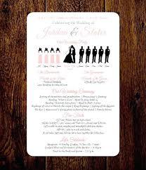 wedding invitation program program to make wedding invitations wedding ceremony program with